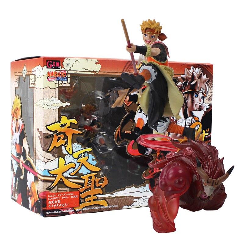 18cm GEM Naruto Shippuden Uzumaki Cos Son goku The Monkey King Figurine PVC Action Figure Model Collectible Toy Doll Gift