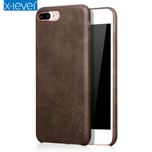 Phoen Bag Case Cover for iPhone 7 8 Case Vintage Ultra-thin PU Leather Black Cover for Apple iPhone7 7Plus Protector Coque