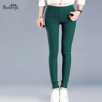 Newest Plus Size 3XL New Autumn Pockets Pants Women High Waist Cotton Pencil Pants Fitness OL