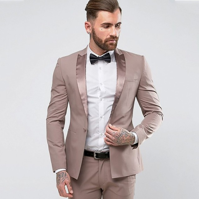 Мужские костюмы на заказ, свадебные костюмы жениха, деловые костюмы Terno Masculino из 2 предметов (пиджак + брюки + галстук), новинка 2019