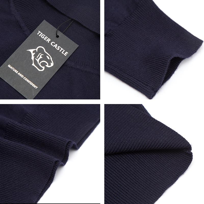 TIGER CASTLE Kvalitet Märke Herrkläder Mode Man Turtleneck Höst - Herrkläder - Foto 4