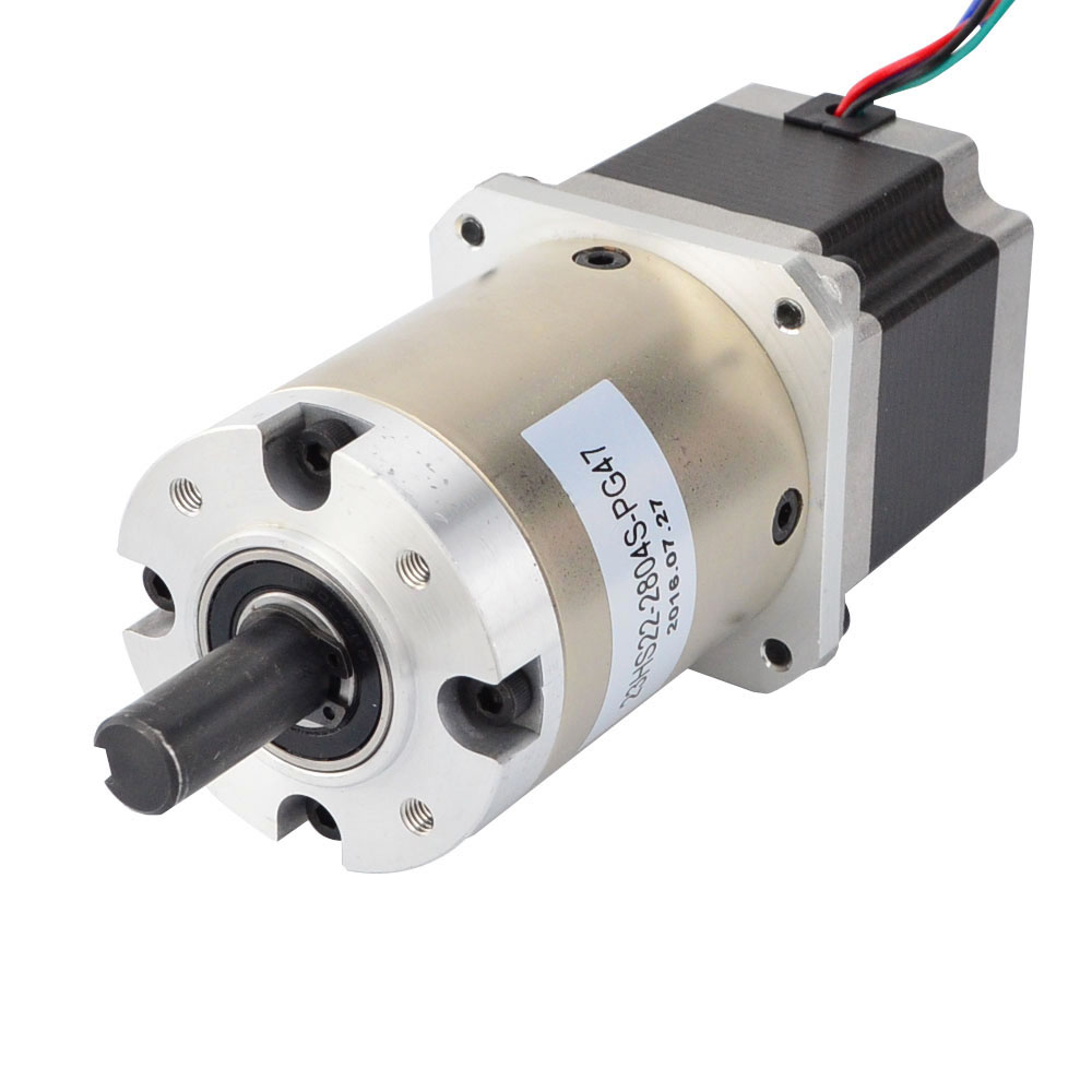 Nema 23 gear motor geared Stepper Motor Bipolar L=56mm w/ Gear Ratio 47:1 1.25Nm(177.01oz.in) planetary reduction gearbox nema23 geared stepping motor ratio 50 1 planetary gear stepper motor l76mm 3a 1 8nm 4leads for cnc router