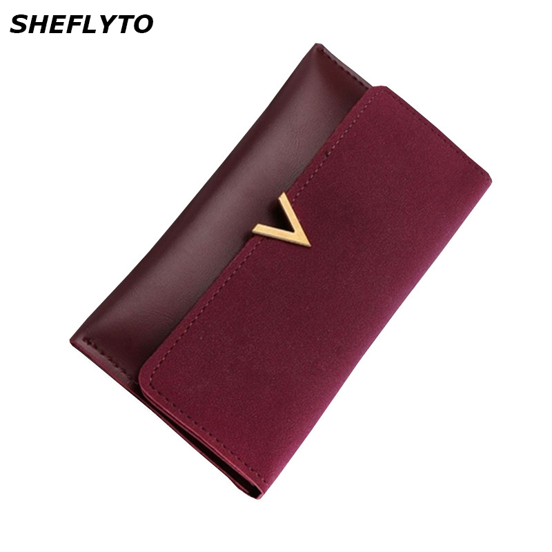 все цены на Brand Designer Slim Leather Phone Wallets Women Hasp Long Coin Purses Girls Credit Card Holders Clutch Wallets Female Money Bags