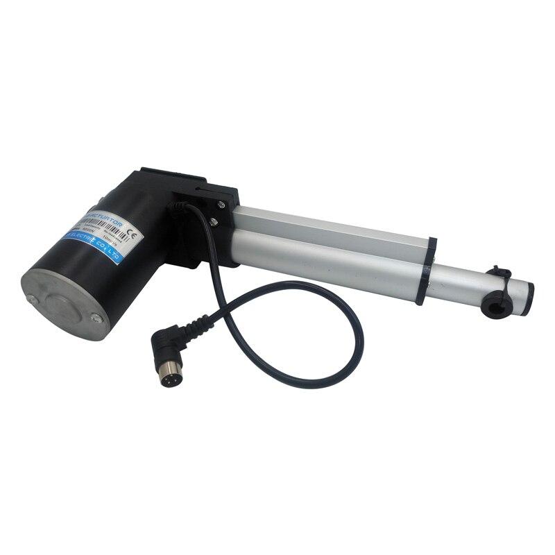 Dc actuador lineal 150mm 24 V dc motor lineal resistente 6000N 4000N 2000N IP54 para silla de masaje eléctrica