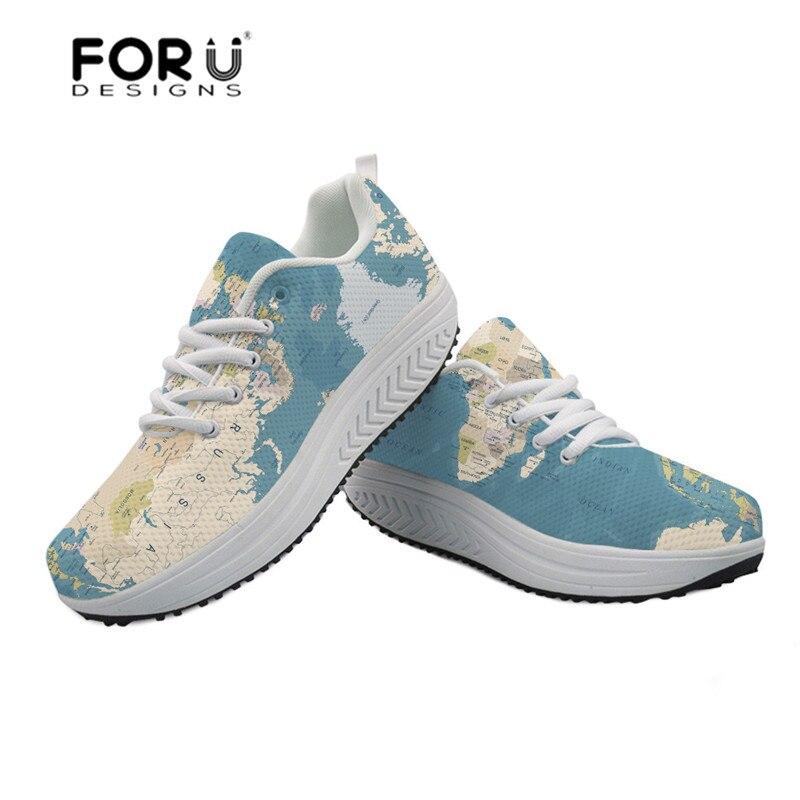 Maille Customized cc4083as cc4084as Carte Sneakers Monde Fitness Forudesigns Balancer cc4079as cc4080as De cc6277as Femmes Minceur Impression Chaussures Du Dames cc6278as forme Mode Croissante Plate OkTPZXiu
