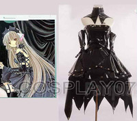 Anime Gothic Lolita Chobits chii (black2) Cosplay Chobits chi Dress Costume Party Dress Action Figure Chobits chii Any Size
