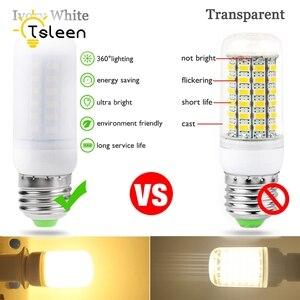 Image 4 - TSLEEN 1PC nouvelle lampe à LED de maïs E27 E14 GU10 G9 B22 7W 9W 12W 15W 20W 25W lumière Led AC 220V Led ampoule lustre lumière projecteur