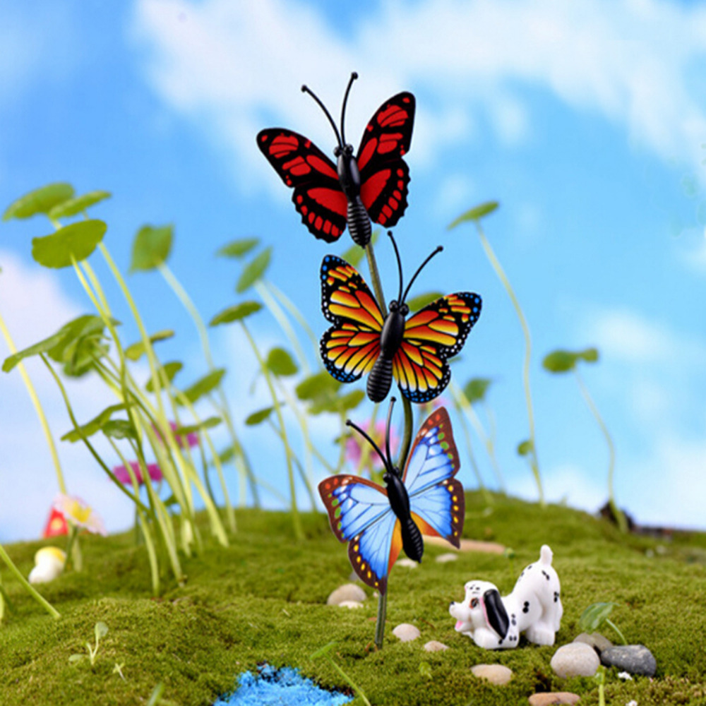 unidsset x cm de hadas jardn gnomos terrarios musgo figuras para decoracin de jardn mini miniaturas artesana mariposa