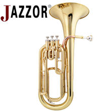 JAZZOR JZBT-300 Professional baritone horn B Flat Gold / Silver Brass Baritone brass wind instrument with mouthpiece & case(China)