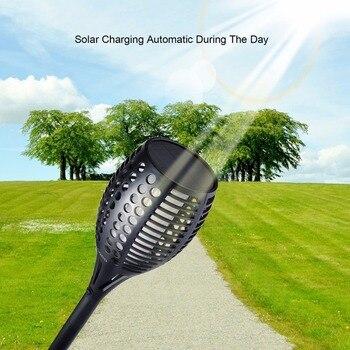 4 Stücke ICOCO Outdoor 96 LED Flackern Flamme Beleuchtung Solar Taschenlampe Licht Landschaft Decor Pfad Beleuchtung Wasserdichte Taschenlampe Licht