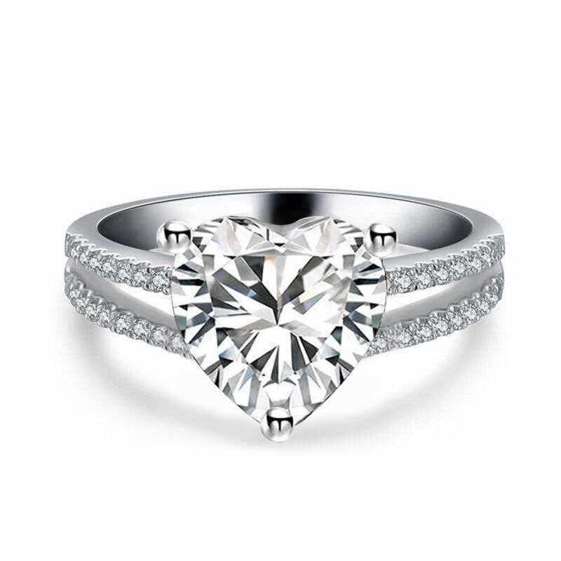 Choucong кольцо для влюбленных в сердце из стерлингового серебра 925 пробы 3ct AAAAA cz камень обещание на помолвку обручальные кольца для женщин ювелирные изделия подарок