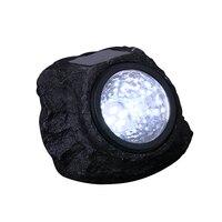 4 LED Solar Decorative Waterproof Rock Stone Lights Outdoor Lights Decoration Night Lamp For Garden Yard