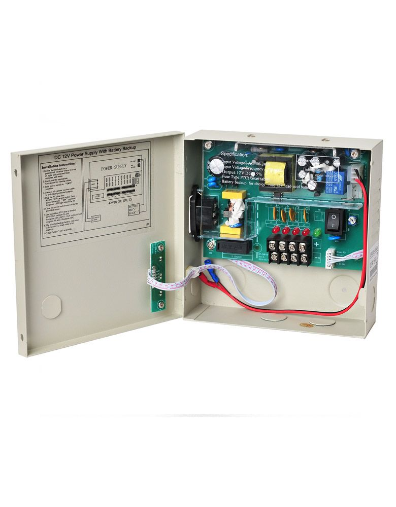 UPS Power Supply DC12V 3A 4 Channel Backup For CCTV Camera System 9 channel 12v dc 10a regulated power supply for cctv system