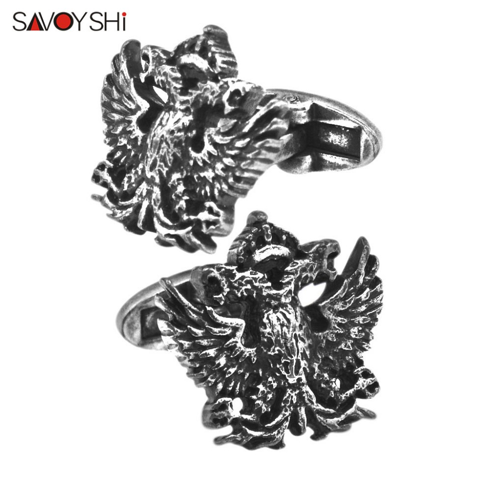 SAVOYSHI Fashion Shirt Cufflinks for Mens Fine Gift High quality Vintage Metal Double-headed eagle Cuff links Brand Jewelry
