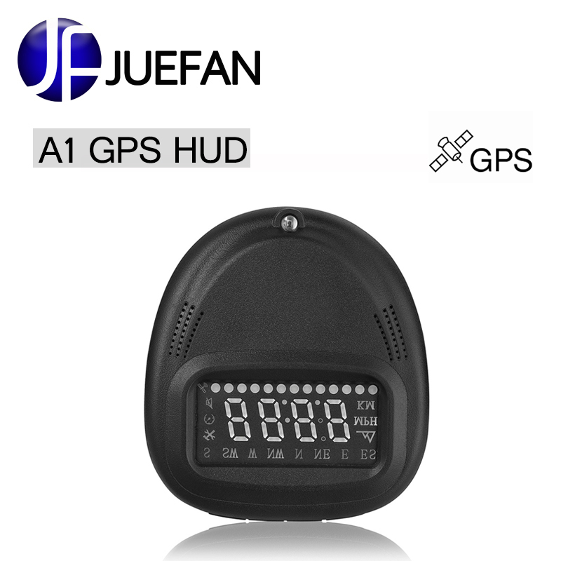 New A1 HUD Car Head Up Display Car Detector Speed Projector on Windshield HUD Display Car with GPS new arrival 5 5 multi color design screen display car hud compass gps head up display security system vehicle over speed alarm