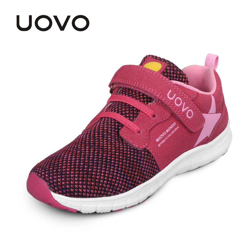 Image 2 - UOVO Spring Kids Shoes Fashion Breathable Mesh Shoes Children Sneakers For Boys And Girls Sport Running Shoes Size 27# 37#sneakers for boyschildren sneakersshoes child sneakers -