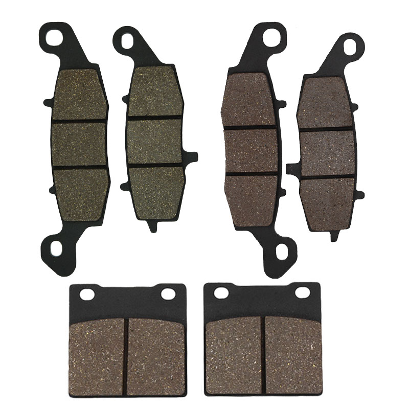 Cyleto Motorcycle Front and Rear Brake Pads for <font><b>SUZUKI</b></font> GSX 600F <font><b>GSX600F</b></font> Katana 600 1998-2006 SV 650 SV650 <font><b>1999</b></font> 2000 2001 2002 image