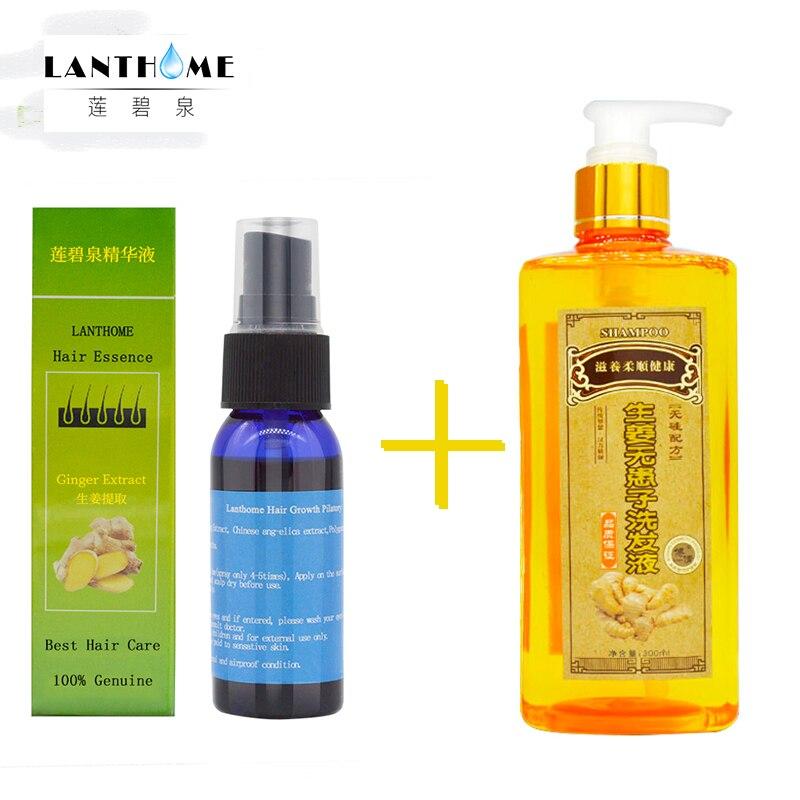 300 ml Estratto di Zenzero Zenzero Shampoo + 30 ml Crescita Spray per Capelli Ricrescita Dei Capelli Trattamento di Perdita Dei Capelli Denso Veloce Anti prodotto di Perdita dei capelli