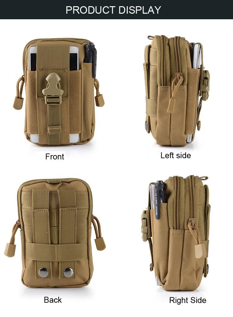 Uniwersalny Odkryty Wojskowy Molle Tactical Kabura Pasa Biodrowego Pasa Torba portfel kieszonki kiesy telefon etui z zamkiem błyskawicznym na iphone 7/lg 3