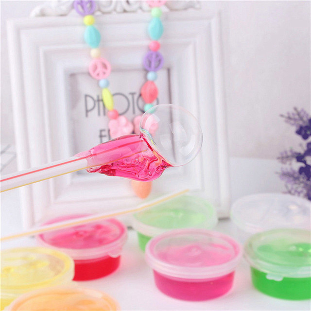 Crazy Soft Slime Toy Magic Colorful Clay Toy 12 Box of Slime with 12 Color intelligent light clay slime cristal Toys #XTT