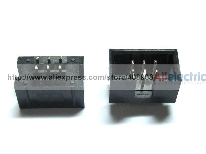 340 Pz 6 Pin Maschio Box Connettore di testa 2.54mm Nuovo340 Pz 6 Pin Maschio Box Connettore di testa 2.54mm Nuovo