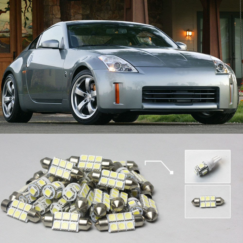 Popular nissan 350z interior buy cheap nissan 350z interior lots 17 6x white led lights interior package kit for nissan 350z vanachro Choice Image