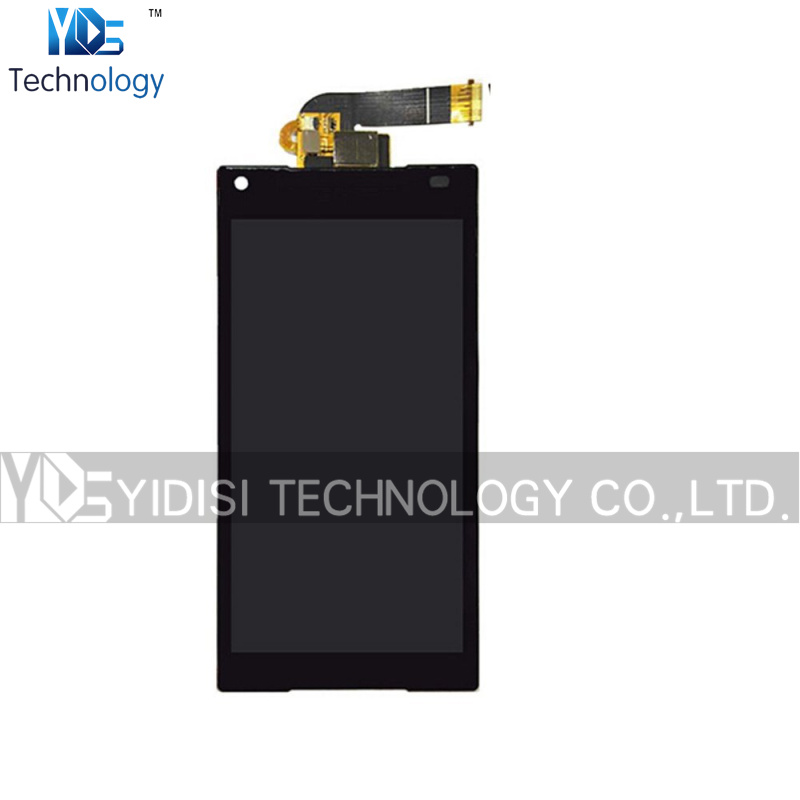 ФОТО 1PCS Original Assembly For Sony Xperia Z5 Compact Z5 Mini E5803 E5823 LCD Display Touch Screen With Digitizer Repair Parts Black