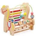 MamimamiHome bebé juguetes educativos de madera cuentas multifuncionales Trojan caballo combinación de aprendizaje juguetes de matemáticas