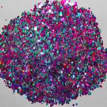 Mixed Dot 38-500grams/lot Mix Colors Round Spangle shape glitter Flake cosmetic powder for nail Gel  (solvent resistant)