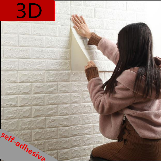 Self-adhesive brick pattern 3d three-dimensional wall stickers thickened insulation sofa self-adhesive waterproof