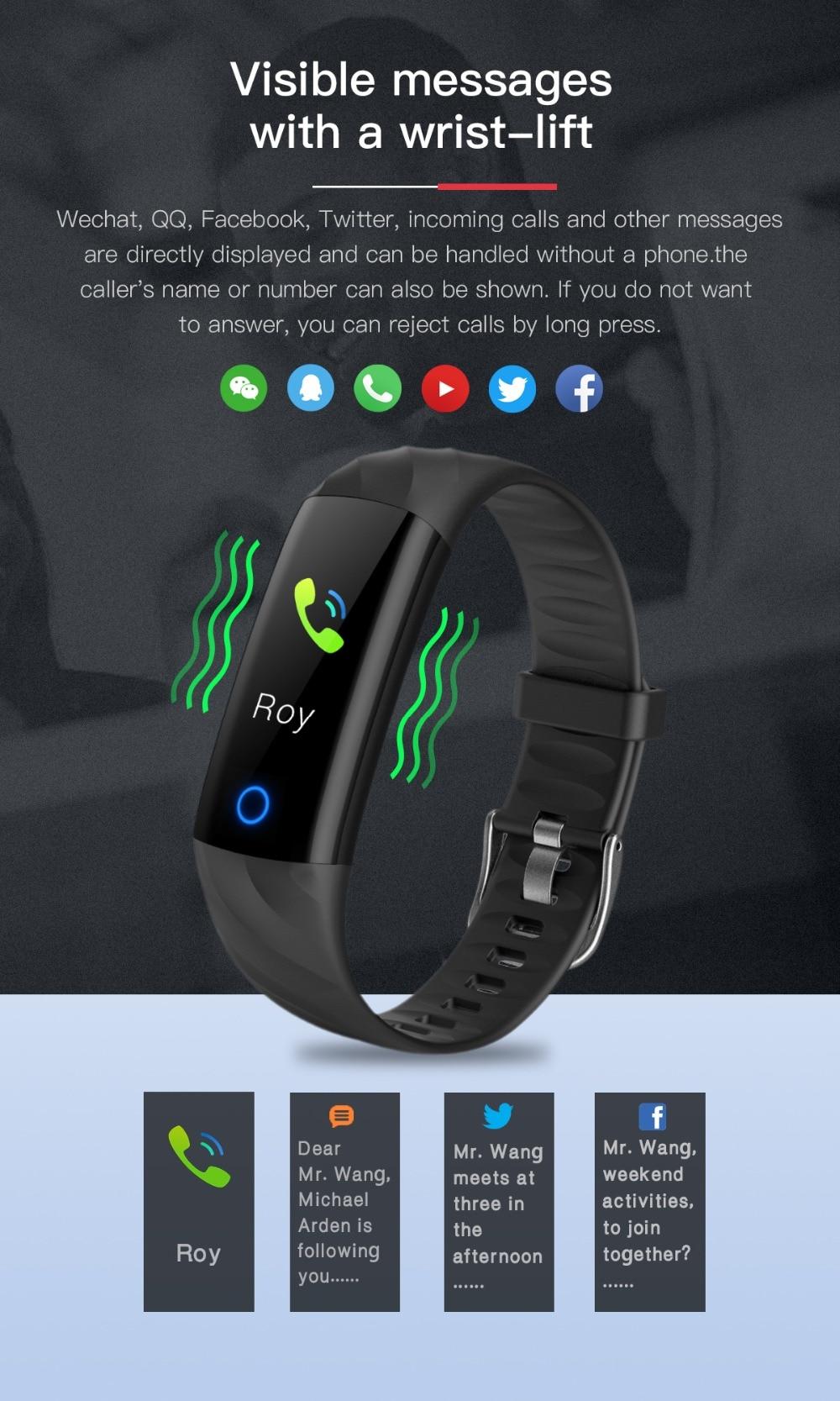 Torntisc S5 Heart Rate Fitness Bracelet IP68 Waterproof Blood pressure oxygen Monitor Color Screen Activity Tracker Smart Band Watch (8)