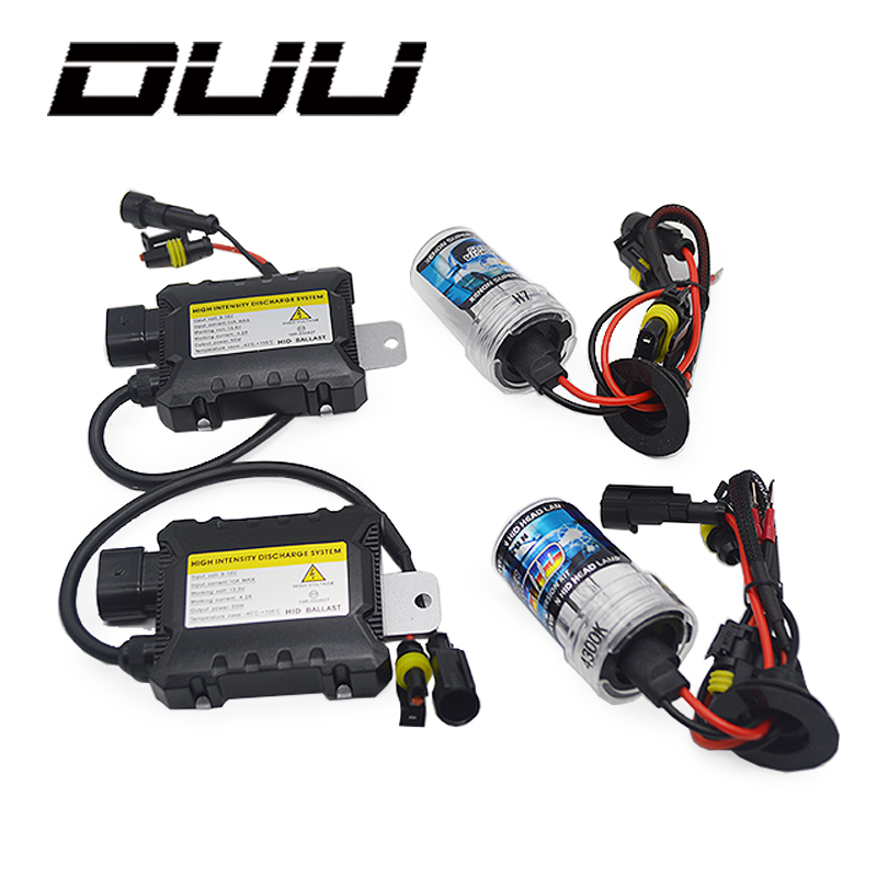 DUU 35W 55W Slim Ballast kit HID Xenon Light bulb 12V H1 H3 H7 H11 9005 9006 4300k 5000k 6000k 8000k Auto Xeno Headlight Lamp free shipping iphcar car styling hid xenon h1 h7 h11 9004 9005 9006 9007 bulb kit 35w hid light kit with slim ballast