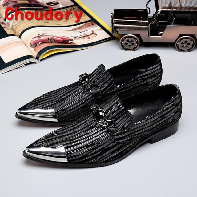 691a99579d0fb Zapatilla hombre elegante para hombre zapatos de cuero genuino de  terciopelo negro dispararon holgazanes pointy toe