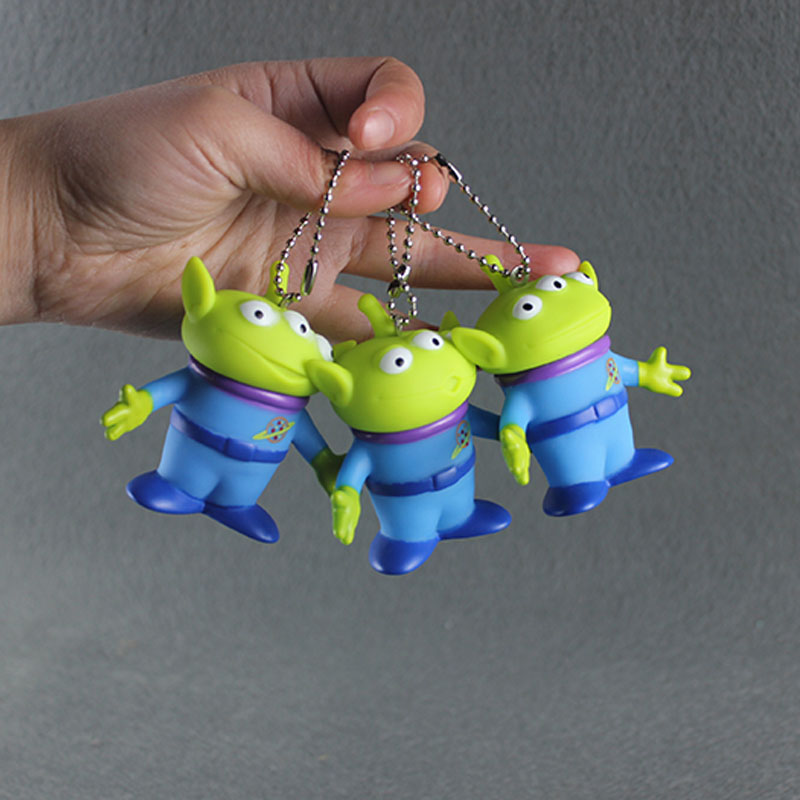 3pcs Toy Story Aliens Figure Toys Alien Keychain 7CM (Keychain can be remove) toy story bunny toys