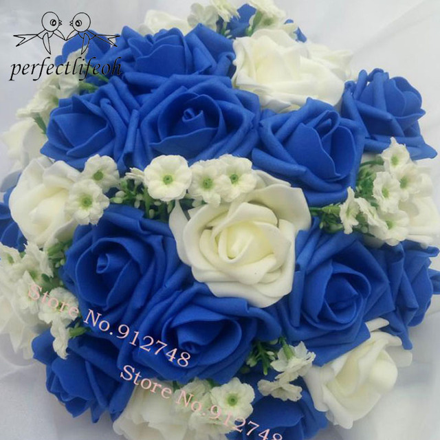 Fabuloso Buquê de casamento Artesanal Flor Rosa Artificial buque casamento  JK08