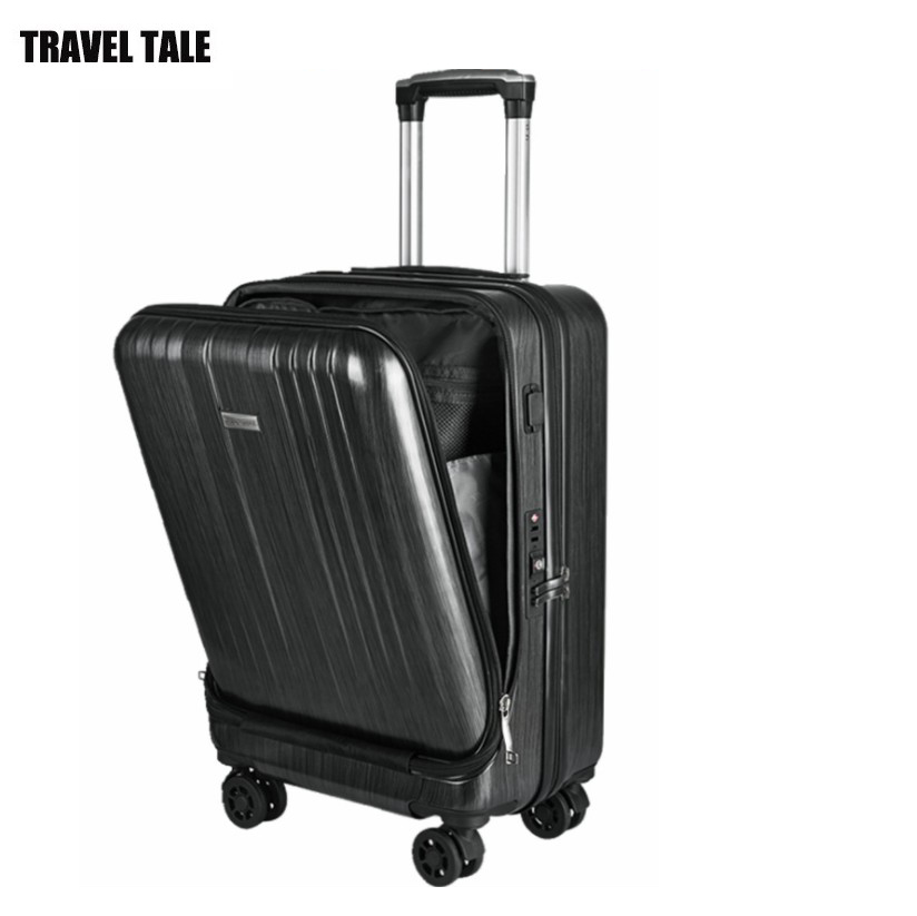 Travel-Suitcase Laptop Hand-Luggage On-Wheel Women Lock-Carry 20--Inch For TSA