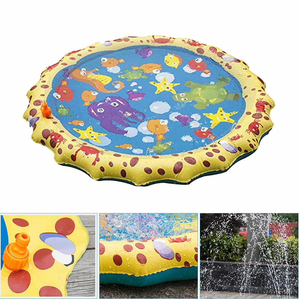 Kids Outdoor Summer Fun Game Party Toy Sprinkler pad Play Mat Toddler Water Toys Toddler Activity Play Center water mat