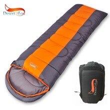 Спальный мешок для кемпинга с изображением пустыни и лисы, 220x85 см, водонепроницаемый легкий спальный мешок, компрессионный мешок для пеших прогулок и путешествий