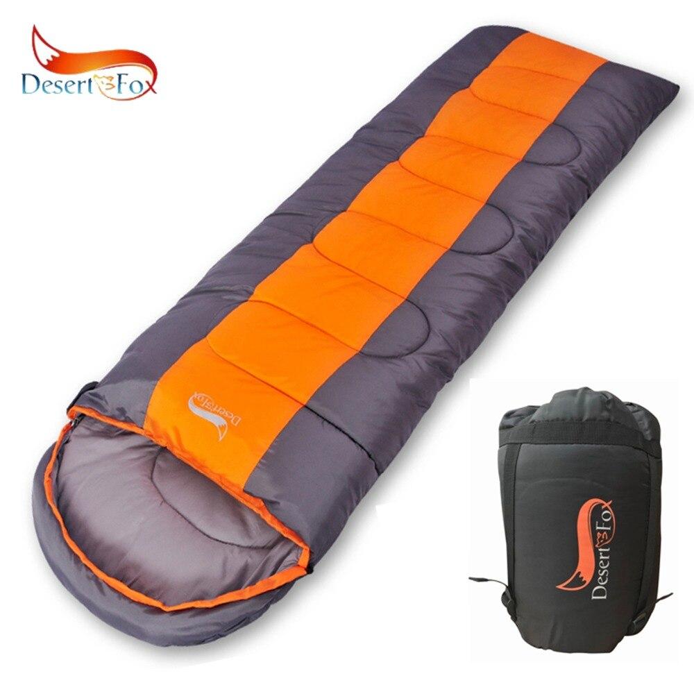 Sac de couchage de Camping Desert & Fox, 220x85cm enveloppe imperméable à l'eau sac de couchage léger, sac de Compression pour randonnée voyage