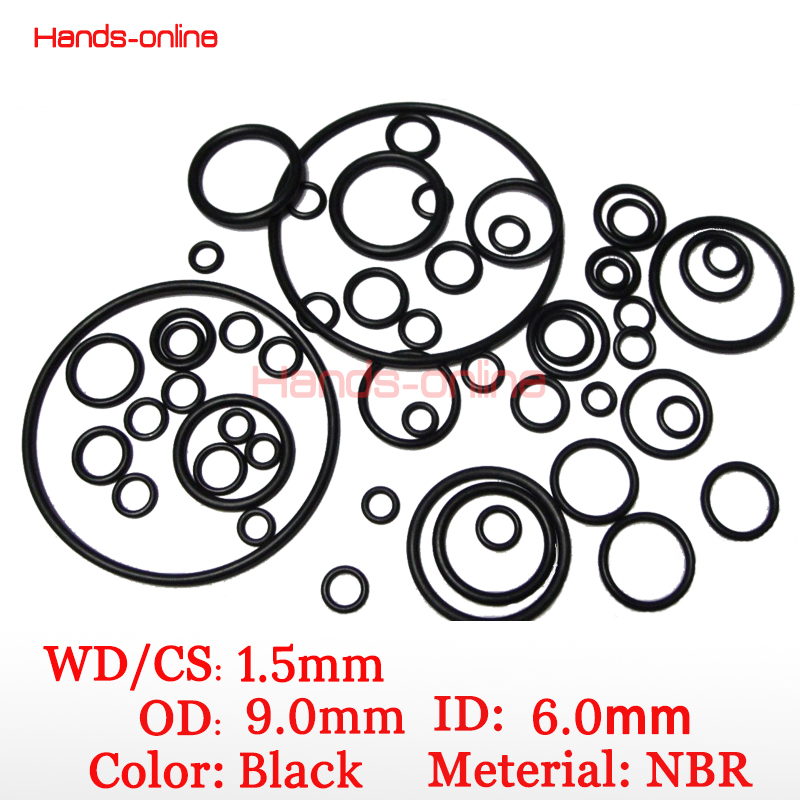 10pcs/lot 9 x 6 x1.5 mm O-rings O Ring oil seal resistant NBR Nitrile Butadiene Rubber sealing o-ring 9mm OD x  1.5mm CS 02023 clutch bell double gears 19t 24t for rc hsp 1 10th 4wd on road off road car truck silver