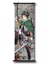 Attack On Titan Anime Rivaille 79*29CM Wall Scroll Poster #40178 halder japanese cartoon anime animation attack on titan keychains armin arlart rivaille ackerman chatacters trinkets accessories