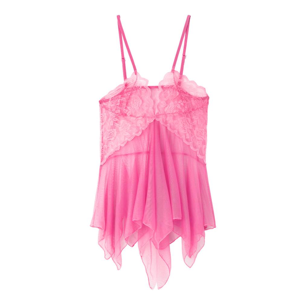 2017 New Women Sexy Lingerie Lace Nightgown Night Dress Sheer Sleepwear Babydoll Nightwear & chemise de nuit nightdress Z1 4