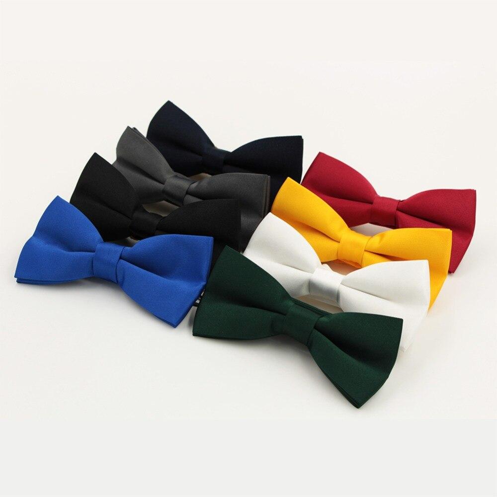 Veektie Warna Solid Mode Dasi kupu-kupu Untuk Pria Bowtie Tuxedo - Aksesori pakaian - Foto 4