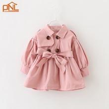 Детские девушки Мода куртки Девушки Верхняя Одежда детская Пальто Весна Осень Детские Пальто