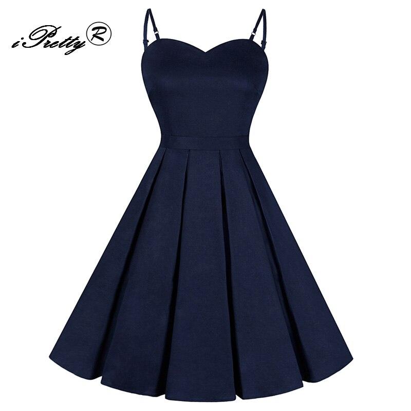 Summer Pin Up Dress Women 50s 60s Spaghetti Strap Rockabilly Swing Belt Vintage Retro Party Dresses feminino vestidos