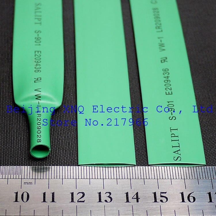 13mm Green Environmental Shrink Tube Heat Shrinkable Tube Insulation Fire Retardant ROHS UL Certification