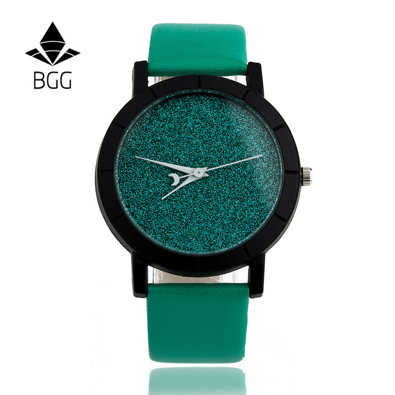 Ladies Casual Watch fashion Rhinestone Women Dress Watch Lovers' Leather Quartz Wristwatch Cute Moon Stars Design clock hours 10