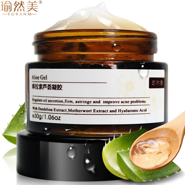 Curacao Aloe Vera Gel Whitening Moisturizing Acne Treatment Refreshing Oil-Control Repair Damage Face Creams Beauty Skin Care