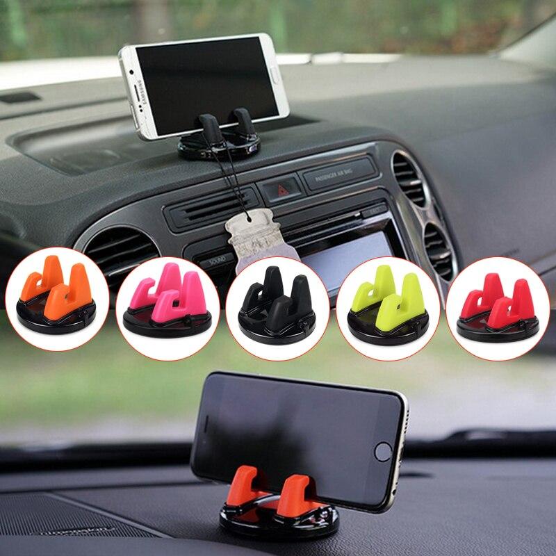 Автомобильный держатель для телефона мягкий силиконовый нескользящий материал мобильный телефон крепление бокс на подставке поддержка gps для iphone 6S Plus Xiaomi