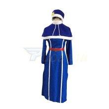 Anime Fairy Tail Juvia Lockser Blue Dress Cosplay Costume juvia майка